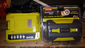 RYOBI 40V Battery and Charger Peterborough Peterborough Area image 1
