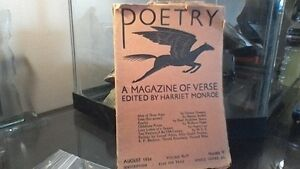 1934 Harrit Monroe Poetry Magizine with dust jacket MINT cond