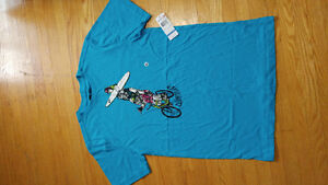 BOYS NWT QUICKSILVER SHIRT-SIZE XL