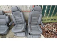 5 grey leather seats for Landrover td5