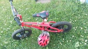 "12""  bike with helmet and training wheels"