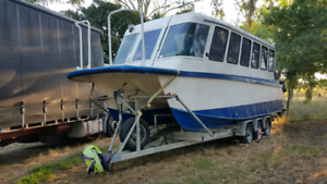 Survey Nov 2018 trailer houseboat project water taxi small ferry