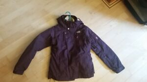 Purple North Face 2-in-1 Jacket