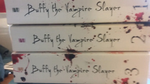 Buffy the vampire slayer books and Glass sword , Red Queen