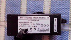 12V AC Adaptor for sale NEW >> 100-240V >> 1.1A >> 47-63Hz