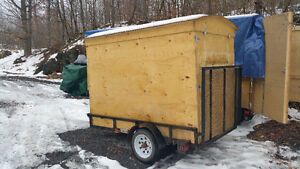 utility cargo trailer or fishing hut