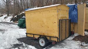 utility cargo trailer or fishing hut