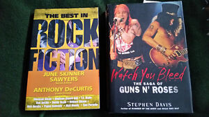 Guns and Roses Hardcover and Best of Rock Fiction books