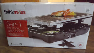 3 in 1 Hot Stone, Grill and Raclette