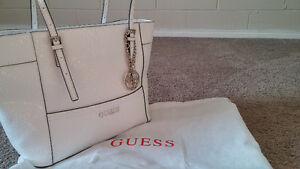 Never used - Pure white GUESS purse - retail value $120
