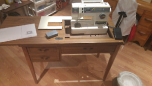 Singer sewing machine and matching table