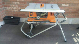 Rigid 10-inch Portable Table Saw with Stand