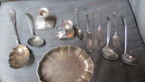 ladles,utensils,tray,candlestick holders