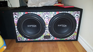 Kaption spl max subs cheap need gone asap!!