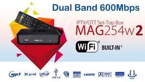 New Original Infomir MAG254W2 Builtin Dual Band WiFi-600Mbps