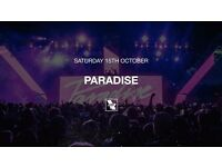 1 x Paradise Warehouse Project Paper Ticket for Sale 15/10/16