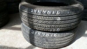Pair of 2 Bridgestone Dueler HL422 215/70R16 tires (50% tread li