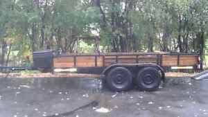 Flat Bed Trailer Dual Axle 14' long
