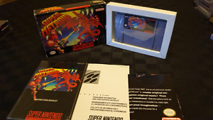 Super Metroid Complete in box  SNES
