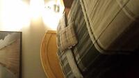 SOLID WOOD HEAD BOARD -TWIN BED SET