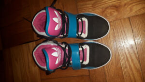 Size 7 Girl's Adidas hi-top sneakers