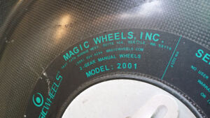 Magic wheels for wheel chair.