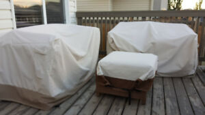 Patio furniture barely used heavy duty with cover, Garage kept.