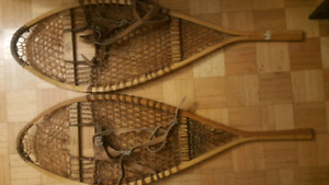 Faber made in canada antique snow shoes raquette