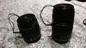 Deux Objectifs Canon 18-55mm et 55-250mm