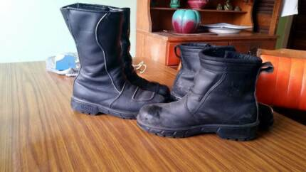 motorcycle boots rossi 2 pairs leather short / long men woman