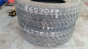 Pair of 2 Yokohama Geolandar HTS 265/70R17 tires (50% tread life