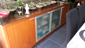 Buffet and dining table