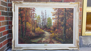 Listed Canadian artist R.Schul landscape oil painting