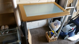 """Rectangular frosted breakfast table 2"""" x 3"""""""