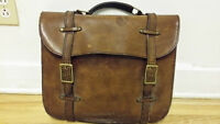 Vintage Sac en Cuir Mid century - Antique leather bag Briefcase