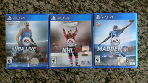 NHL, NFL AND NBA LIVE 16