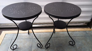 2 Tables d'appoint en aluminium