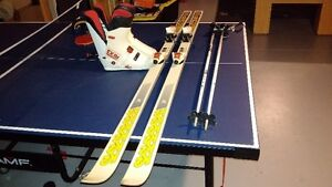 Skis, boots, bindings and poles for sale
