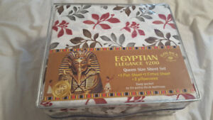 Egyptian Queen bed sheets