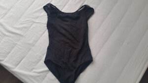black body suit with purple skirt for girls 4-5 years