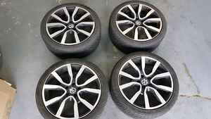 VW MKVI GTI 18 inch wheels with low profile tires