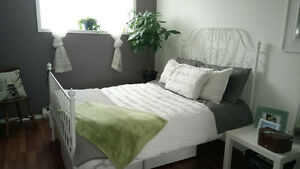 White Ikea Bedroom Set and Bassett Mattress Kingston Kingston Area image 1