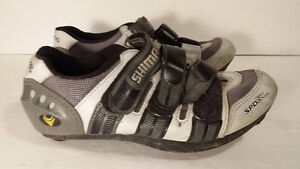 women SHIMANO size 6 spinning bike shoes