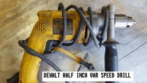 DEWALT ELECTRIC SAWS & DRILLS
