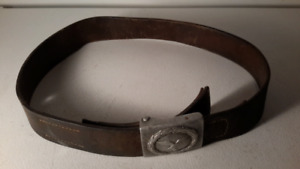 WWII (2) German Leather Belt and Buckle