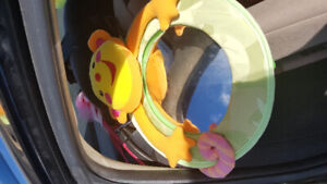 carseat mirror in the car
