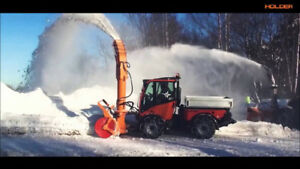 Holder Tractor, Kubota Diesel engine, snowblower, snowblade.