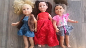 Lowered price Newberry dolls and accessories