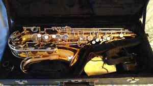 Sax and case.