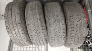 4 nice used size 15 summer tires & rims for sale